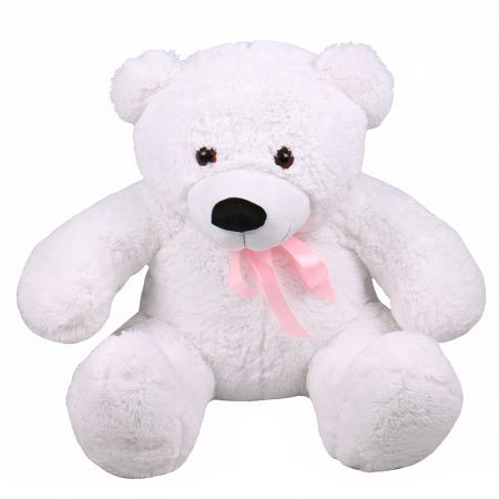 Teddy bear white 105 cm | make an order on UFL website
